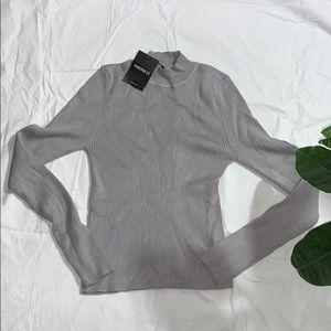 F21 Grey long sleeve